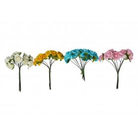 Kwiaty sztuczne piankowa różyczka wiązka