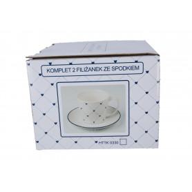 Ceramika kpl.2 filiżanek180ml ze spodkam