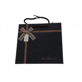 Papier torebka -czarna kokarda mała