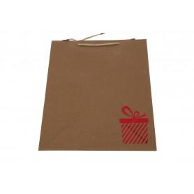 Papierowa torba eko RED maxi