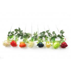 RÓŻA GAŁĄZKA Z DODATKAMI (kwiaty sztuczne)