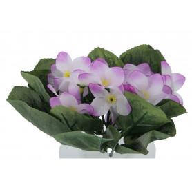Kwiaty sztuczne bukiet fiołek z liściem