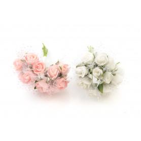 Kwiaty sztuczne pik różyczek pianka