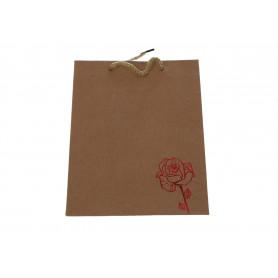 Papierowa torba eko RED midi