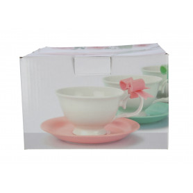 Ceramika kpl.2 filiżanek ze spodkiem