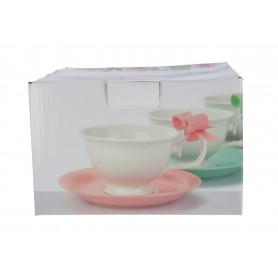 Ceramika kpl.2 filiżanek ze spodkiem 210