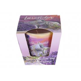 Świeca zap. w szkle lavender fields
