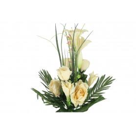 Kwiaty sztuczne bukiet róża lilia
