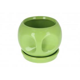 Ceramiczna doniczka, mix kolorów