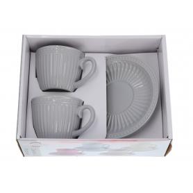 Ceramika zestaw filiżanek 2+2