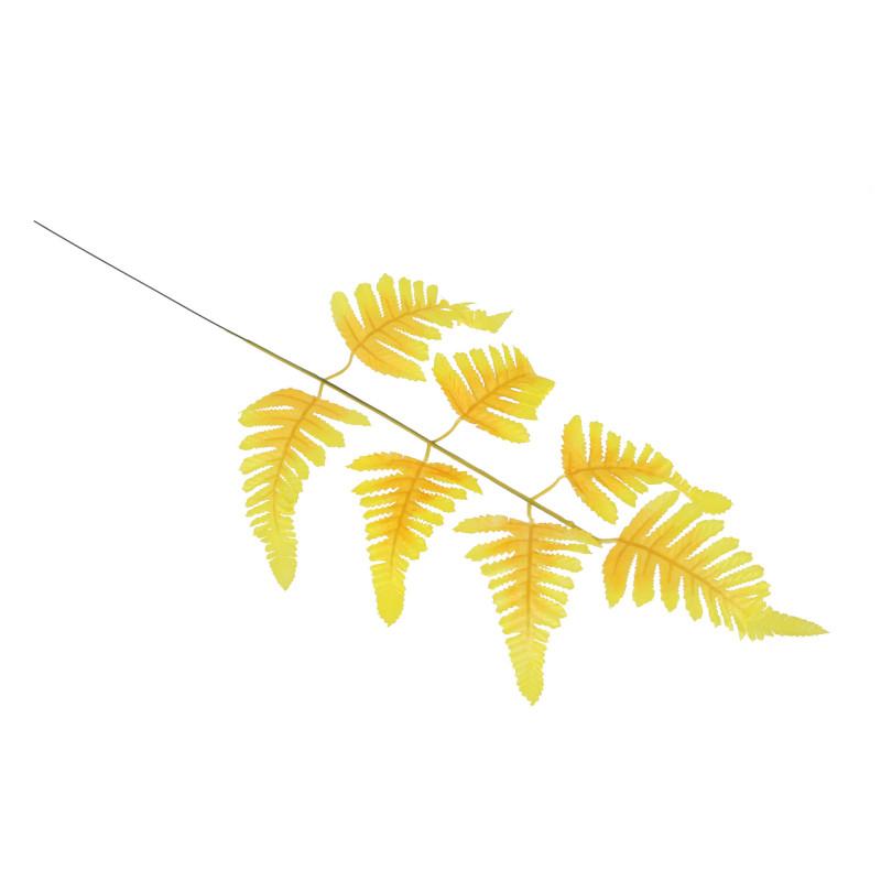 Искусственные цветы: сатиновый лист папоротник