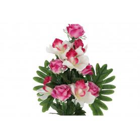 Kwiaty sztuczne bukiet róża storczyk