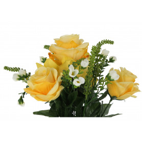 Kwiaty sztuczne róża storczyk bukiet