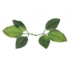 Искусственные цветы: лист розы