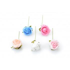 Kwiaty sztuczne różyczka pianka 8cm