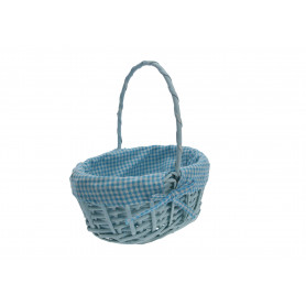 Wiklina art. dekoracyjne koszyk niebieska elipsa