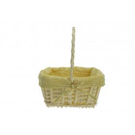 Wiklina art. dekoracyjne koszyk żółty prostokąt