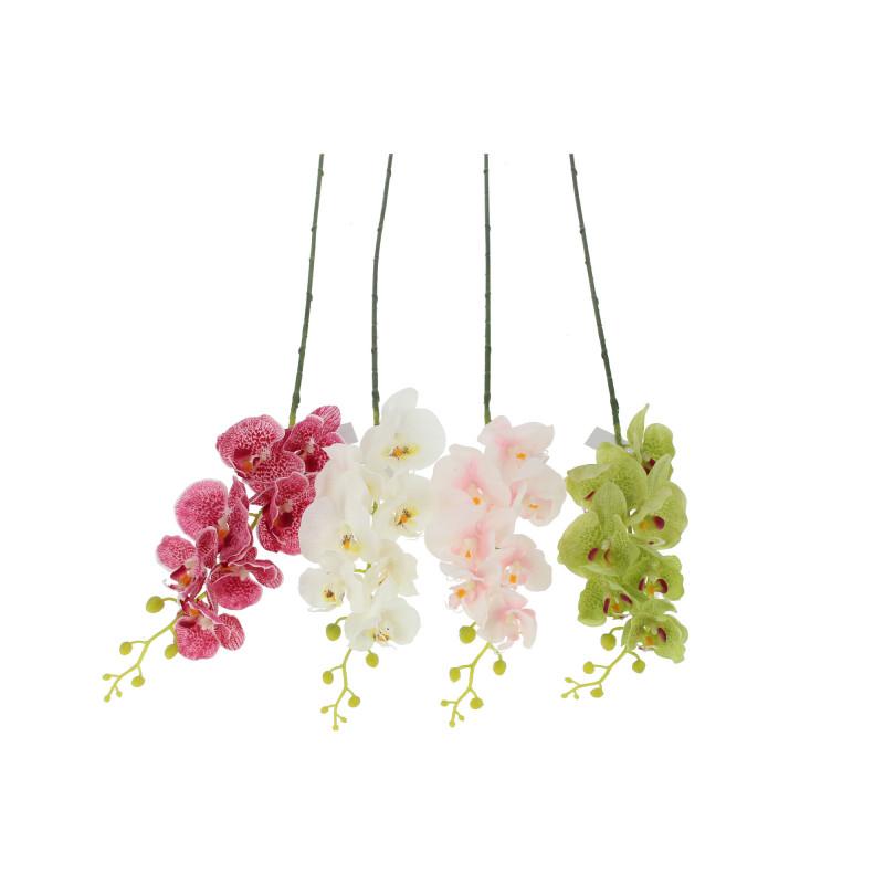 Kwiaty sztuczne: storczyk pojedynczy gumowy