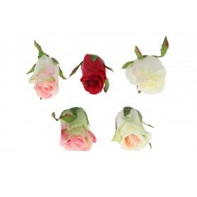 RÓŻA WYROBOWA Z LIŚCIEM (kwiaty sztuczne)