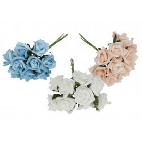 Kwiaty sztuczne pęczek róż x10