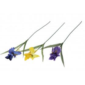 Kwiaty sztuczne irys pojedynczy