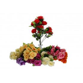 Kwiat sztuczny bukiet róża mix