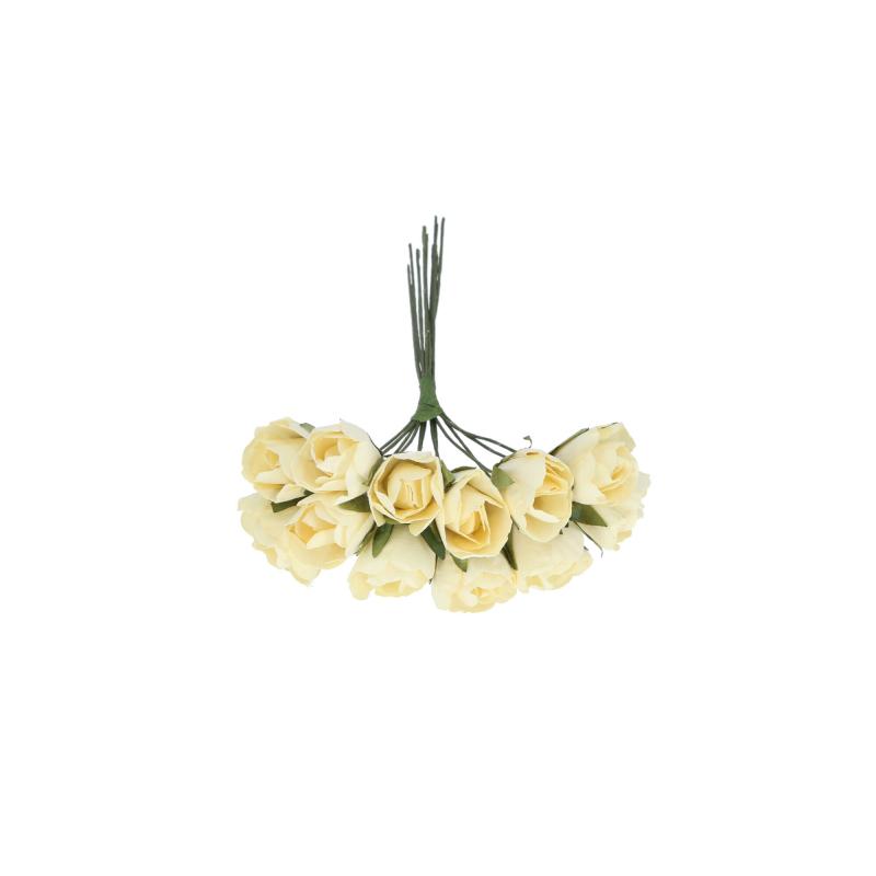 Kwiaty sztuczne bukiecik piankowej róży