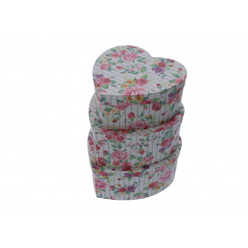 Papier FLOWER BOX kwiatowe serce, set of 3