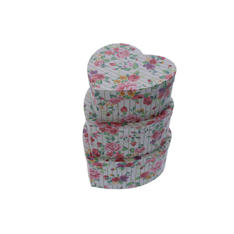 Papier FLOWER BOX kwiatowe serce, set of 3