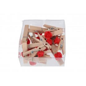 Drewniane spinacze różyczki