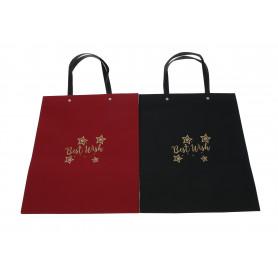 Papier torebka czarna i czerwona duża