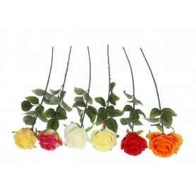 Kwiaty sztuczne róża gałązka (kolory)