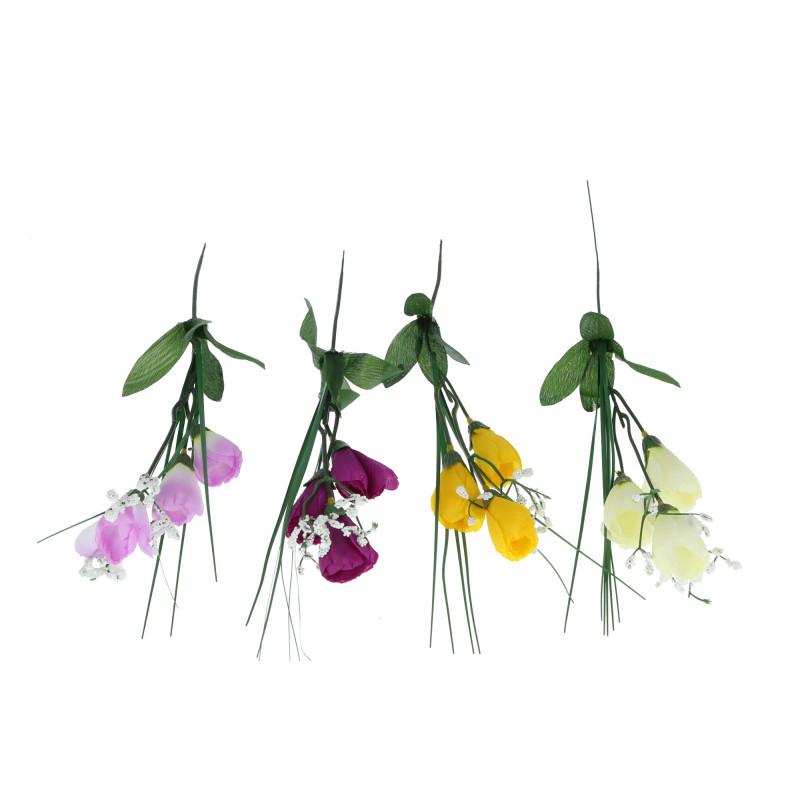 Kwiaty sztuczne krokus z gipsówką