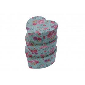Papier FLOWER BOX błękit, kwiatowe serce 3w1