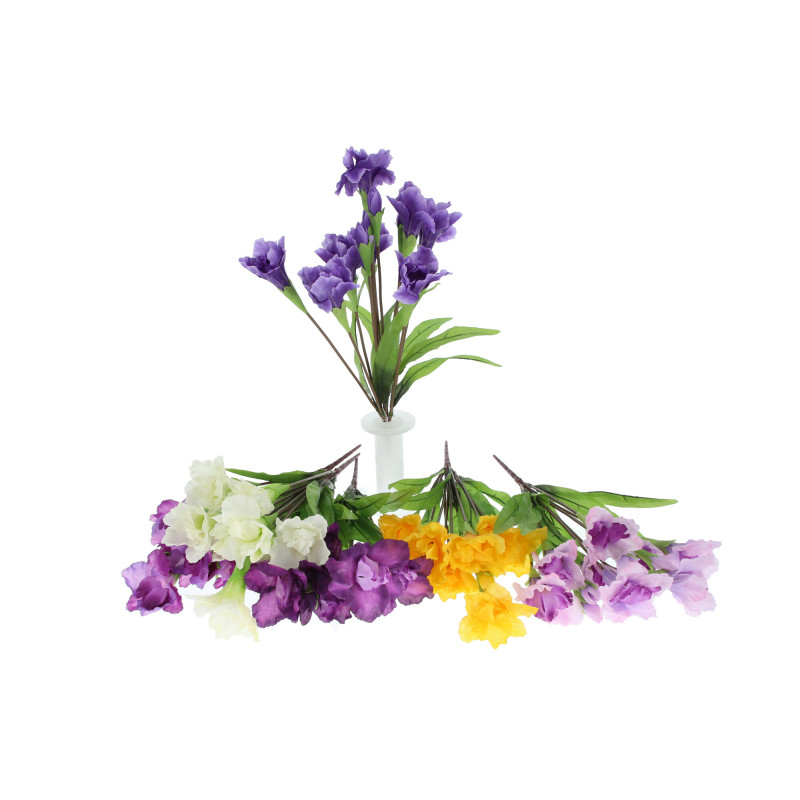 Kwiaty sztuczne: bukiet irys lux