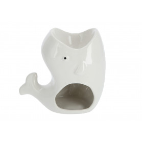 Ceramiczny kominek wieloryb