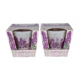 Świeca zap. w szkle lavender basket