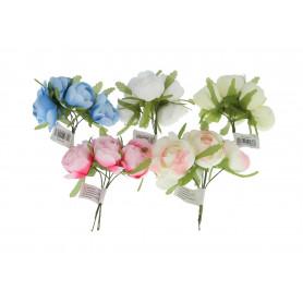 Искусственные цветы букет пеон