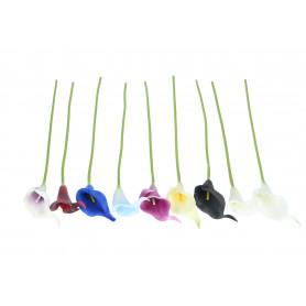 Kwiaty sztuczne piankowa kalla wiązka (10szt)