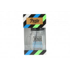 Szklany słoik z rurka 450ml mix