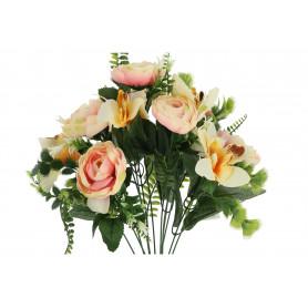 Kwiaty sztuczne bukiet begonia storczyk