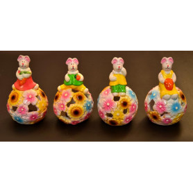 Керамическая фигурка зайца