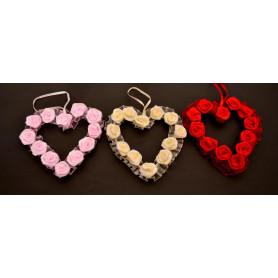 Декоративный кулон роза на сердце WWW1046