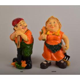 Figurka ogrodowa babcia i dziadek