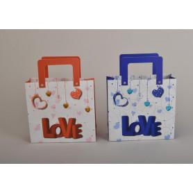 Бумажный пакет LOVE (25x17 см ) OP329
