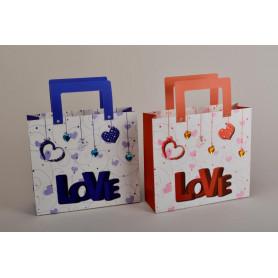 Бумажный пакет LOVE (35x29см ) OP330