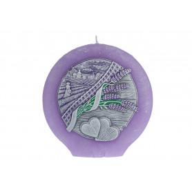 Свеча Lavender Kiss dysk 130 mm