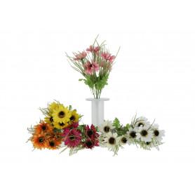 Kwiaty sztuczne bukiet rumianekx5
