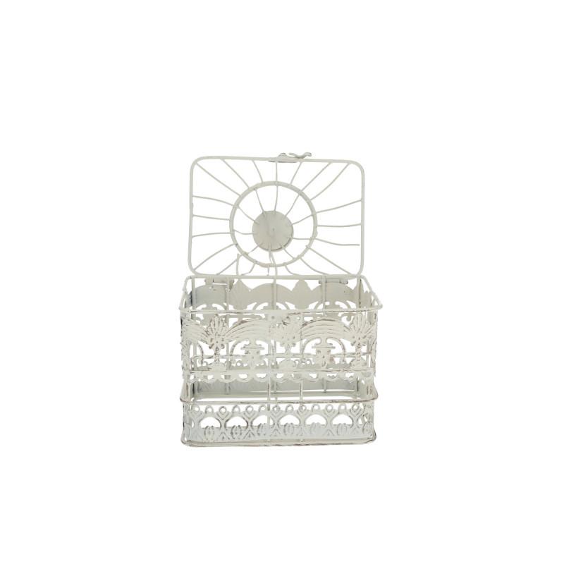 Metalowa mała klatka dekoracyjna