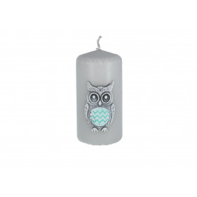 Świeca Funny Owls słupek 50x100 mm